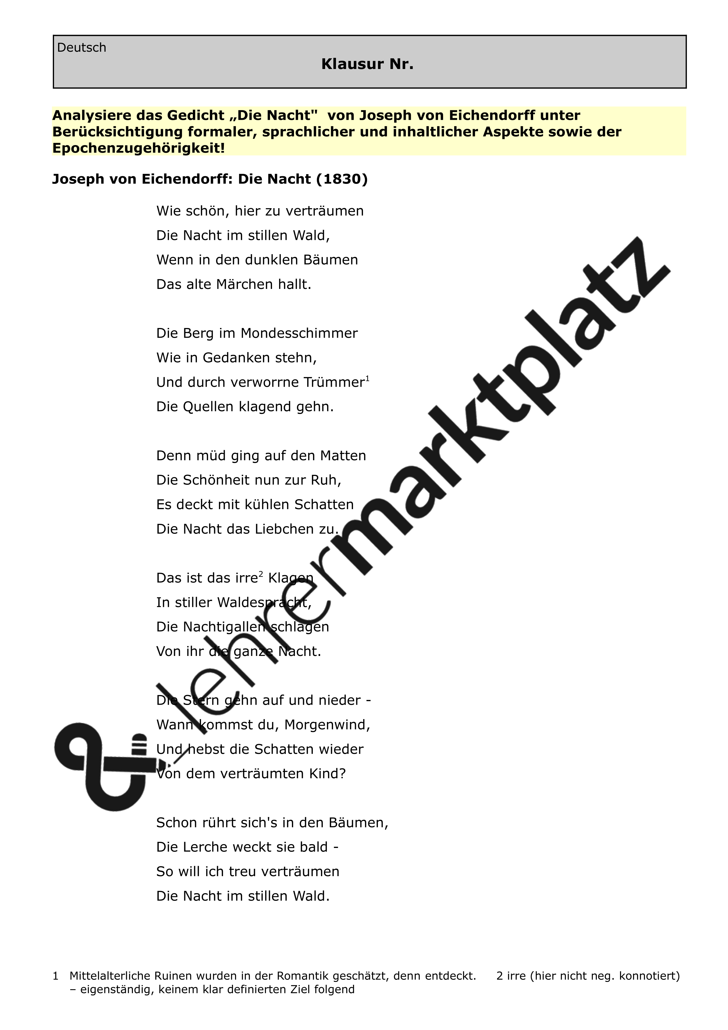 Moderne Lyrik Gedichte Merkmale
