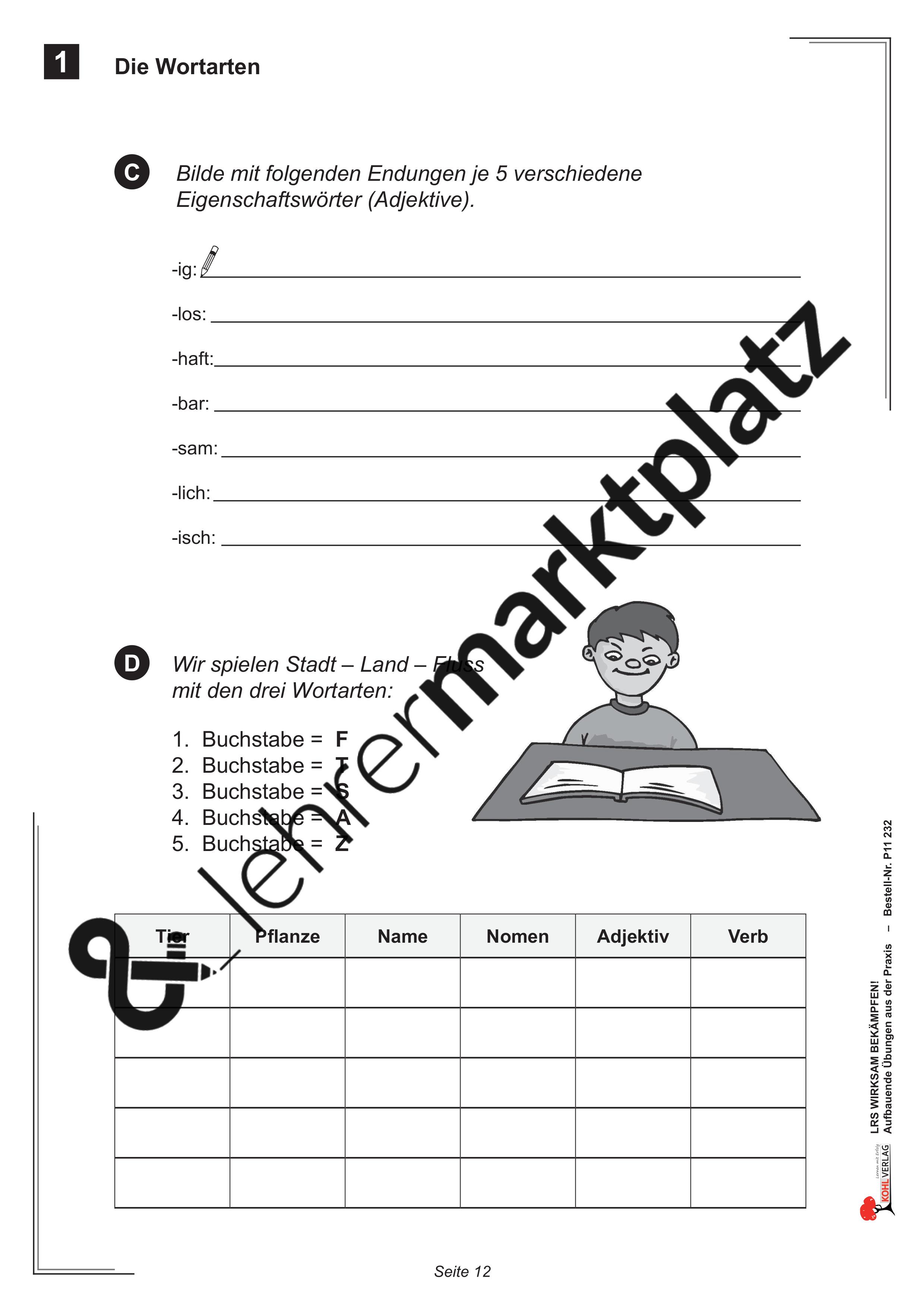 Lrs Wirksam Bekämpfen Unterrichtsmaterial In Den Fächern Deutsch