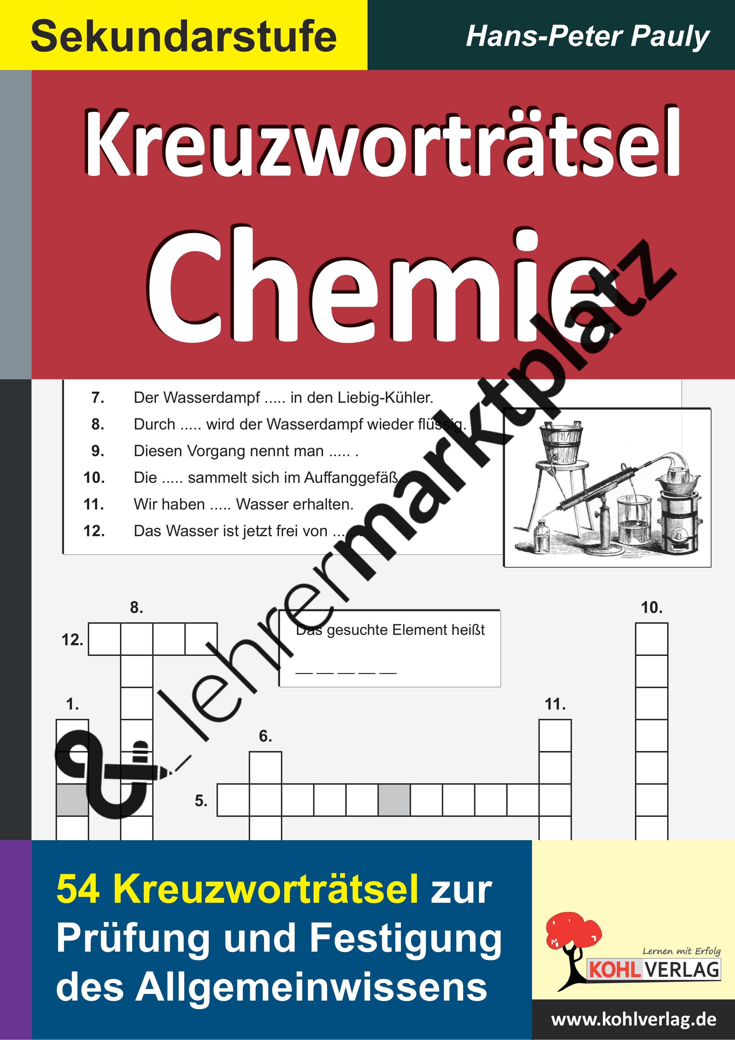 Kreuzworträtsel Chemie