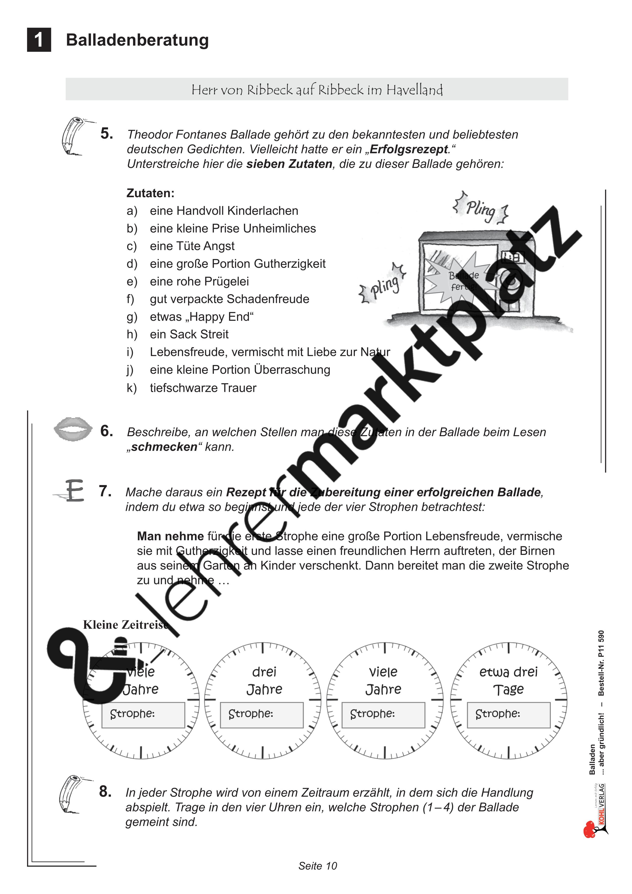 balladen aber gr ndlich unterrichtsmaterial in den f chern deutsch. Black Bedroom Furniture Sets. Home Design Ideas