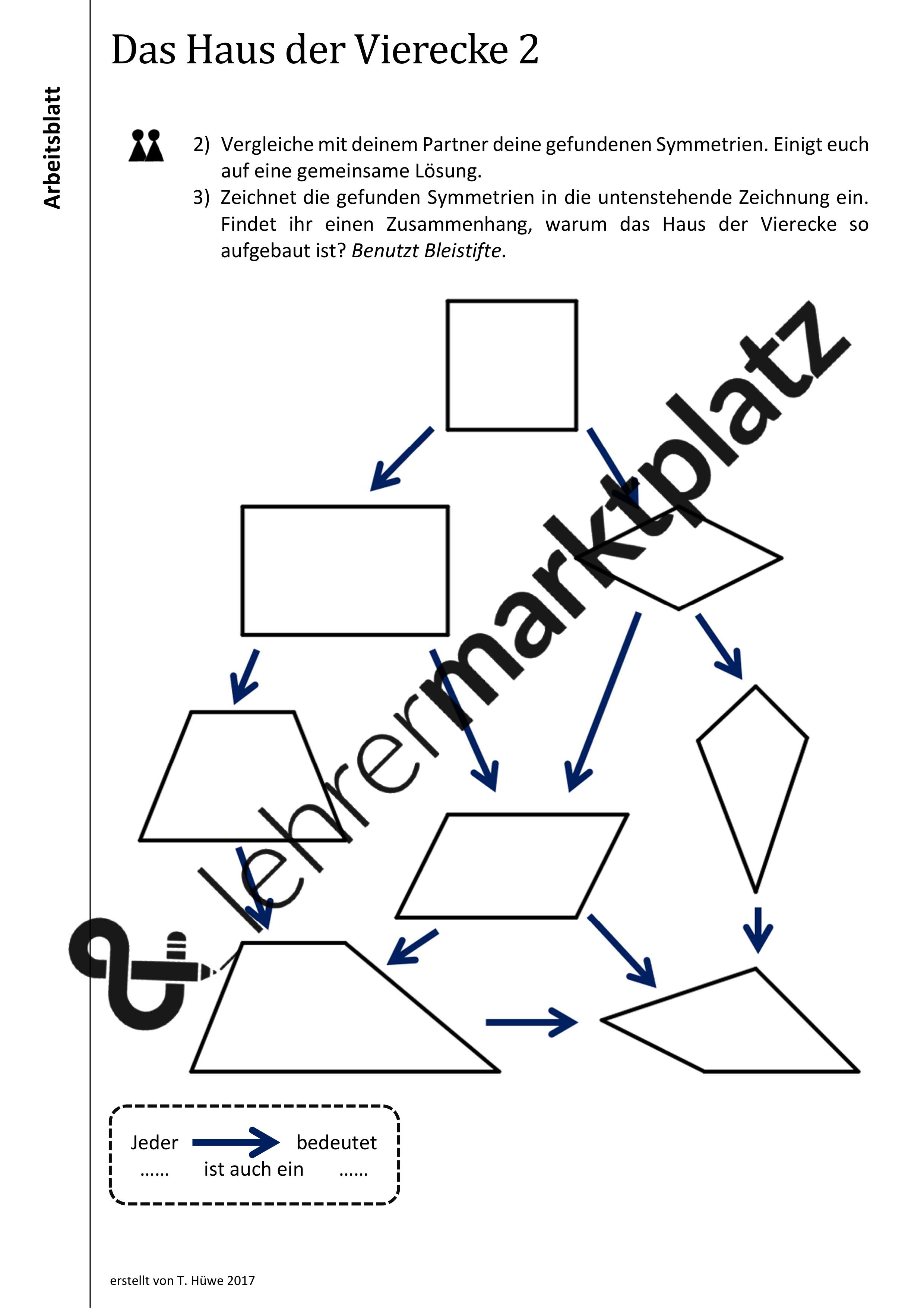 Ab Das Haus Der Vierecke 2 Ordnen Durch Symmetrien Mit Losungen