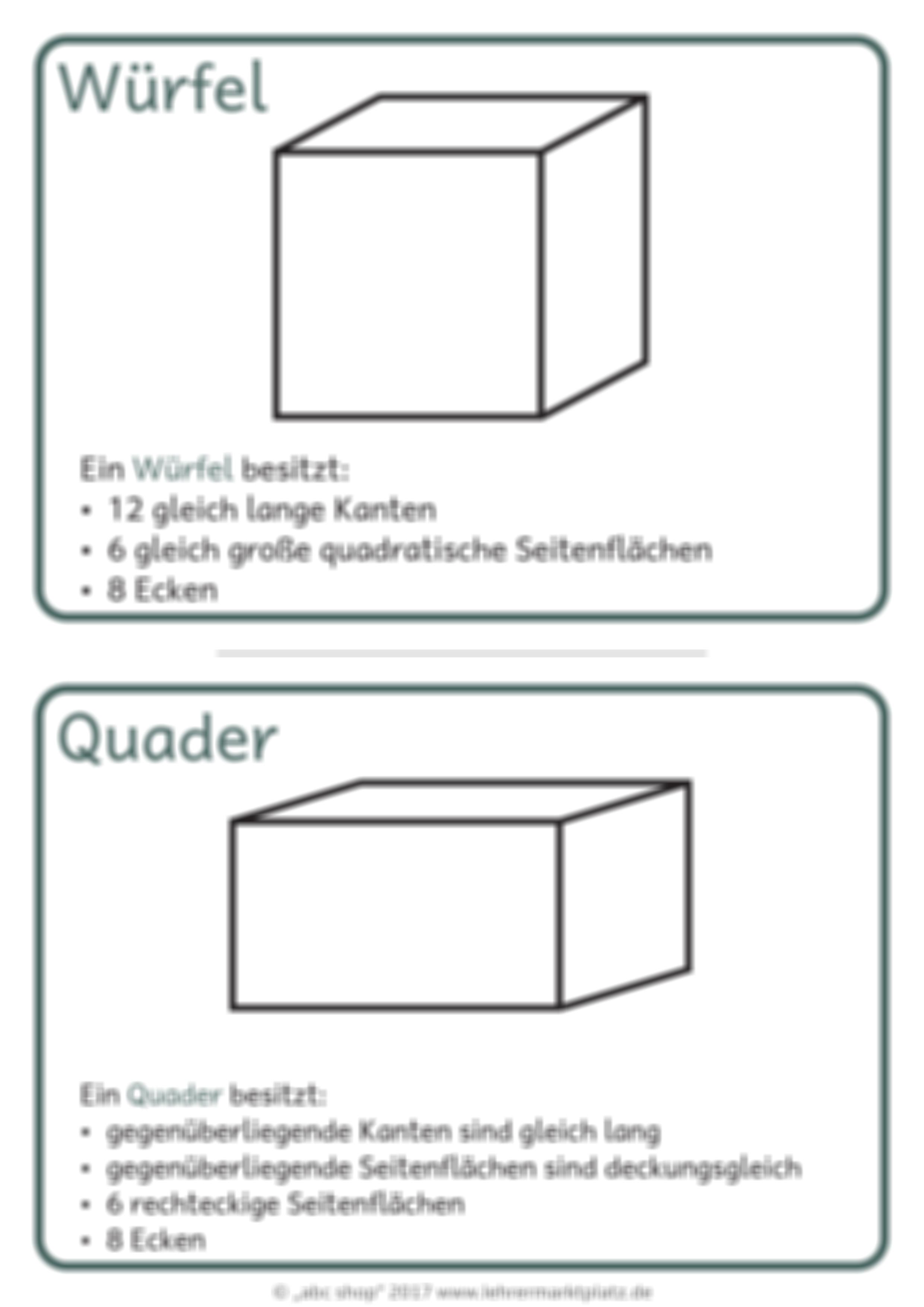 ein geometrisches w rterbuch winkel k rper fl chen quader quadrat parallel netze haus. Black Bedroom Furniture Sets. Home Design Ideas